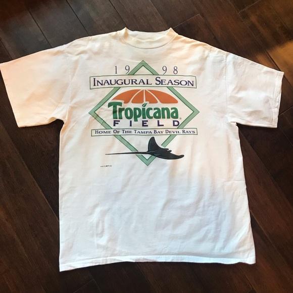 fffd9a1e MLB Shirts | Vintage Tampa Bay Devil Rays Tropicana Inaugural | Poshmark
